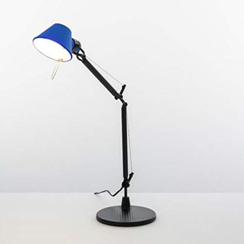 TOLOMEO MICRO BICOLORE-Lámpara de escritorio 37 cm edición limitada en negro y azul Artemide – Diseñado por Michele De Lucchi & Giancarlo Fassina