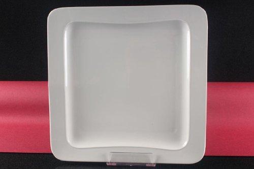 Teller Servierteller Flachteller Porzellan Weiß Gastronomiebedarf 31x31cm