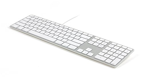 Matias FK318S USB Wired Aluminum Keyboard with Numeric Keypad and Built-in 2-Port Hi-Speed USB 2.0 Hub - Compatible with Mac (Silver)
