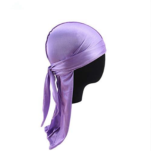 Qianmome Women Men Silky Durags Hip Hop Cap Hair Head Wrap Doo Rag