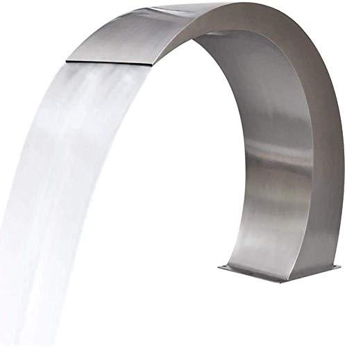 Edelstahl Pool Wasserfall Brunnen Silber für In Ground Pools Garten Outdoor Wasserfälle und Swimmingpool (400 200mm)