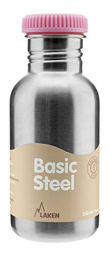 Laken Botella Básica INOX 0,50 L-Tapón Rosca Acero, Adultos Unisex, Rosa (Rosa), Talla Única