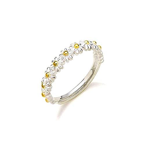 XYGHN I Think About You - Anillo de margarita, anillo de margarita, personalidad ajustable 5 – 12 anillos de doble banda de color