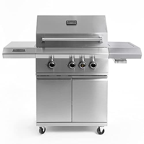 Victory 3-Burner Propane Gas Grill with Infrared Side Burner - BBQ-VCT3BSB-LP