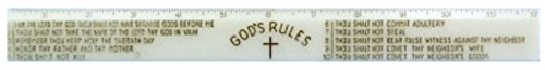 God's Rules glow in the dark ruler