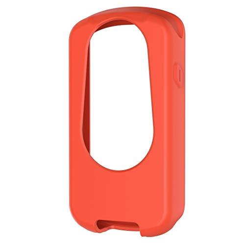 WATCHCASE/para Garmin Edge 1030 Plus/Edge 1030 Universal Silicone Funda Protectora, La decoración de la Moda Protege el Marco del re (Color : Naranja)