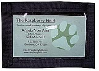 Raspberry Field LLC ID Holder - SEW ON Black