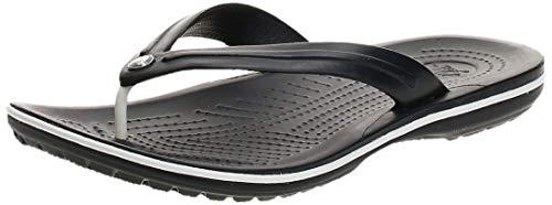 crocs Unisex-Erwachsene Crocband Flip Flop Zehentrenner, Schwarz, 38/39 EU