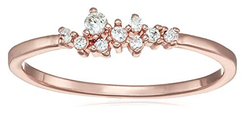 YJYdada Ring, 9 Diamonds Women's Ring Bride Ring Wedding Ring Birthday Gifts (Rose Gold, 9)