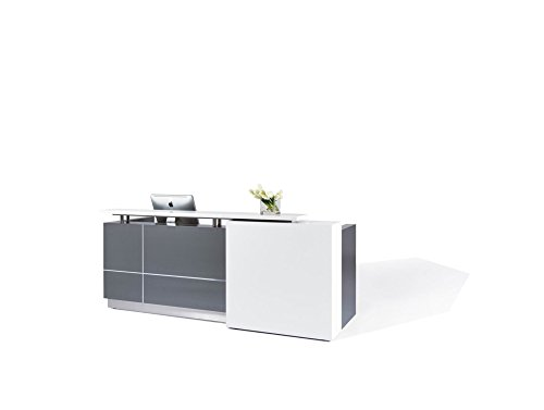Modern Reception Desk (98') with White Quartz Stone Counter-TOP