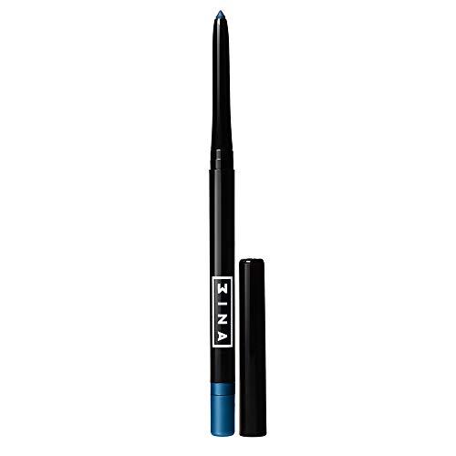 3INA Maquillage Sans Cruauté - Vegan - Crayon Yeux Automatique - Waterproof - Mine Rétractable - Longue Tenue - Taille-crayon et Estompeur Integrèes Bleu - The Automatic Eye Pencil 308