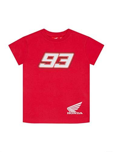 Marc Marquez Tshirt Ufficiale da Bambino Dual Sponsor MM93 MotoGP - Rossa - 10/11 Anni