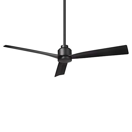 Clean Indoor and Outdoor 3-Blade Smart Ceiling Fan 54in Matte Black with Remote Control