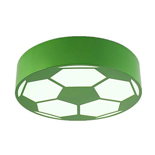 LCTCXD Allée de cuisine pour enfants créative LED, salle de jeu moderne d'accessoires de football (Couleur : Noir, taille : Lumière blanche)