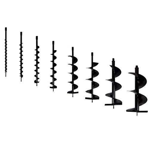 GT Garden Satz Erdbohrer 8 Stück Durchmesser 40/60/80/100/150/200/250/300 mm, Pfahlbohrer Pfostenbohrer Ersatzbohrer für Erdbohrgerät