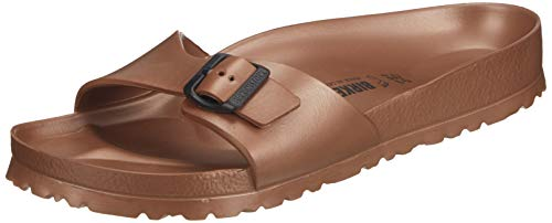 BIRKENSTOCK Unisex, Männlich Madrid Eva normal Pantolette, 45 EU, Metallic Copper (1001503)