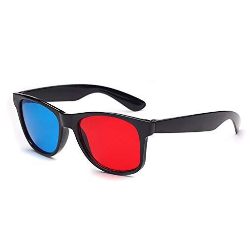 WFZ17 Gafas 3D para adultos, color rojo y azul para películas de...