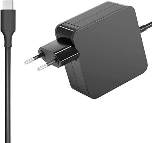 Milipow Fuente de alimentación USB-C de 90 W para portátiles, tablets y smartphones, función de protección, Power Delivery 3.0, cable de 1,8 m, color negro