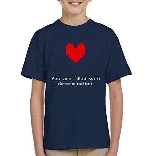 Cloud City 7 Undertale Heart You Are Filled with Determination Kid's T-Shirt