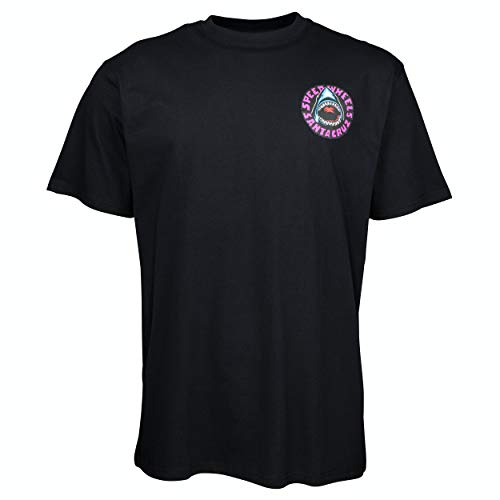SANTA CRUZ Speed Wheels Shark Black T-Shirt Dimensione M