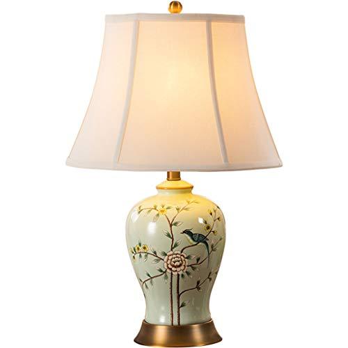 - Tafellamp keramische tafellamp koper E27 lamphouder koperdraad tekening basis nieuwe Chinese retro woonkamer slaapkamer nachttafellamp bedlampje