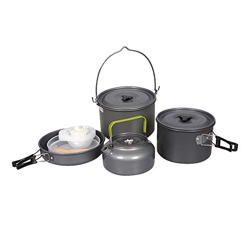 OYZK Camping Cookware Set Portable Outdoor Tableware Kettle Pot Cookset Cooking Pan Bowl for Hiking Picnic