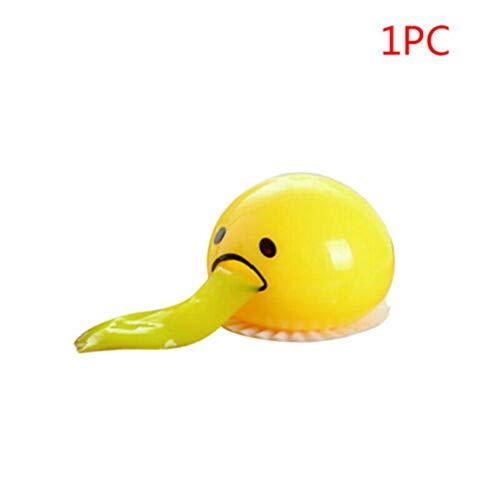 Dapei Anti-stress Spielzeug Eigelb-Druck-Ball Spucken Eigelb Spielzeug Egg Yolk Stressball Langsam aufsteigende Stressabbau Geschenk für Jungen und Mädchen (1PC)