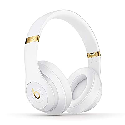 Beats Studio3 Wireless Noise Cancelling Over-Ear Headphones - Apple W1 Headphone Chip, Class 1 Bluetooth, Active Noise Cancelling, 22 Hours Of Listening Time - White (Latest Model) by Apple Computer