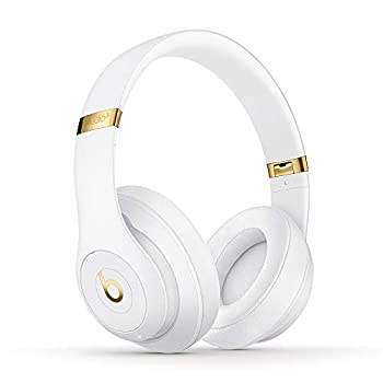 Beats Studio3 Wireless Noise Cancelling Over-Ear Headphones - Apple W1 Headphone Chip Class 1 Bluetooth 22 Hours of Listening Time Built-in Microphone - White  Latest Model