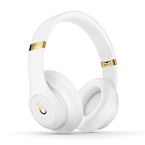 Beats Studio3 Wireless Noise Cancelling Over-Ear Headphones - Apple W1 Headphone Chip, Class 1 Bluetooth, 22 Hours of Listening Time, Built-in Microphone - White (Latest Model)