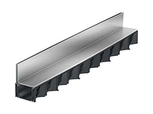 1m ACO Hexaline 2.0 Entwässerungsrinne Schlitzaufsatz Stahl verzinkt Rinne Bodenrinne Terrassenrinne