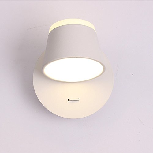 Eenvoudige moderne comfortabele warme wandlamp slaapkamer bed lezen studie wandlampen met schakelaar verstelbare hoek LED boven en beneden Metal Wall Light