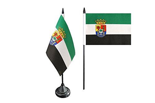 Bandera de mesa/mesa bandera España Extremadura + Gratis Pegatinas, Flaggenfritze–Bandera