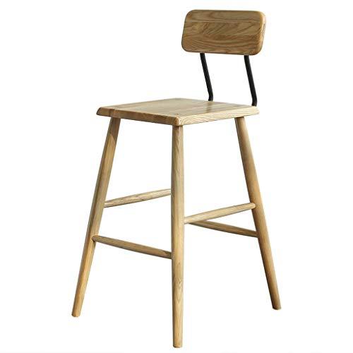 MIEMIE Stühle für Bequeme, Stuhl Nordic Massivholz Esche Schwarz Walnuss Hochhocker Home Schmiedeeisen Rücken