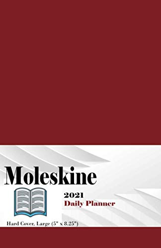"""Moleskine 12 Month 2021 Daily Planner: Moleskine 12 Month 2021 Daily Planner, Hard Cover, Large (5"""" x 8.25"""") Red"""
