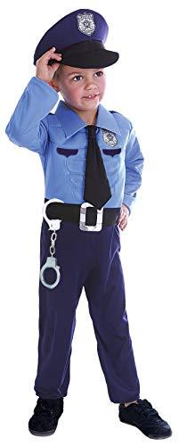 Ciao Poliziotto con muscoli costume bambino, Blu, 4-6 Anni