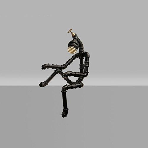 LOFAMI tuyaux des industries créatives de fer de style Robot lampe LED, café bar rétro réglable lampe décorative