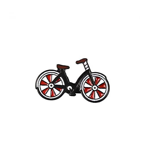 JKDFGJ Red Bike Enamel Pin Cartoon Bicycle Badge Brooch Lapel pin Denim Jeans Bag Shirt Collar Cool Jewelry Gift for Kids Friends