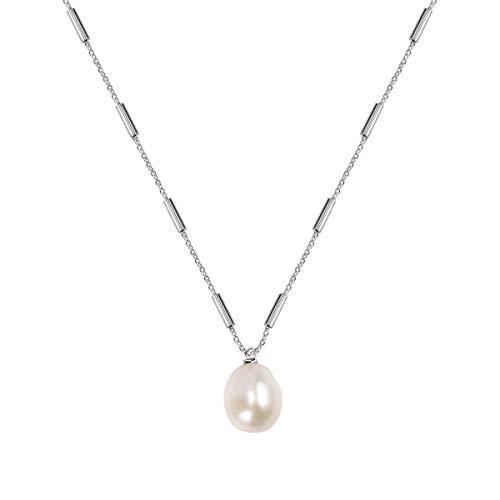 Morellato Collana da donna, Collezione Oriente, in acciaio, perla naturale - SARI10