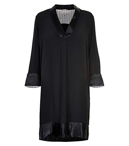 Noa Noa Damen NOA NOOS Dressy Crepe Kleid, Schwarz (Black 0), (Herstellergröße:32)