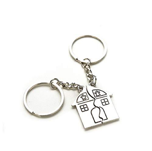 Haus für Sie & Ihn Schlüsselanhänger Schlüsselring für Paare / Geliebte im Set | Geschenk | Hochzeit | Verlobung | Einzug | Häusle | Partnerschlüsselanhänger | Liebe | Home | Familie