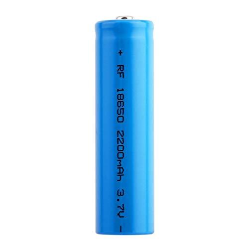 Bateria 18650 Recargable Pilas 3.7V 2200mAh 18650 Recargables Batería Li-Ion De Potencia Botón Superior Pilas Recargables para Linterna LED Herramientas Electrónicas, Azul (2 Piezas)