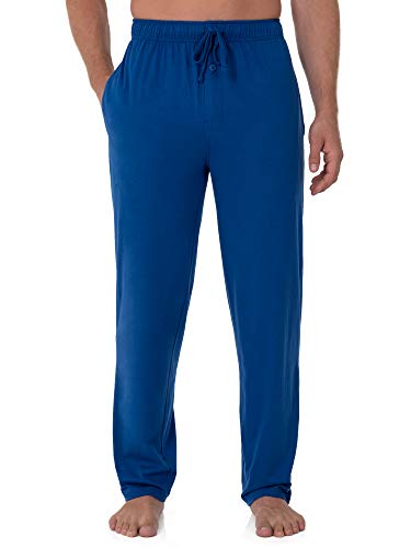 Fruit of the Loom Men's Extended Sizes Jersey Knit Sleep Pant (1-Pack), Mazarine Blue, 4X