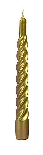 CERERIA DI GIORGIO risthò Kerzen TORTIGLIONE lackiert, Wachs, Gold, 2.2x 2.2x 21cm, 6Stück