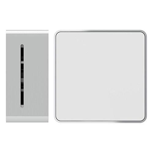 Cube C11 Design Rauchmelder (Silber/Weiss) | TÜV Zertifiziert DIN EN 14604 | 10 Jahre Batterielaufzeit | IF Designpreis Gewinner | Aluminium Gehäuse | Einfache Montage inkl. Klebepad