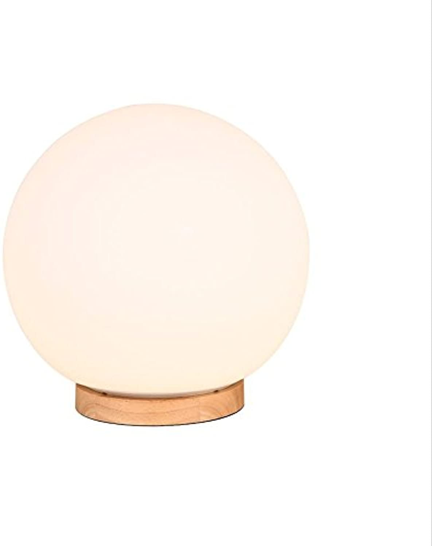 Tischlampe Weie Kugel Tischlampe Dimmable Nordic Holzfu Tischlampe (gre   Durchmesser 25cm)