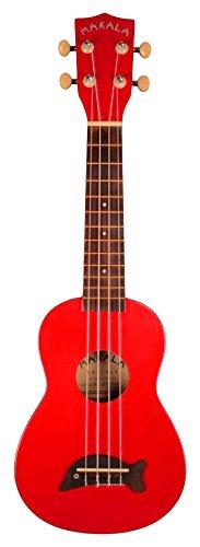 Kala Makala MK-SD Delphin - Ukelele soprano, color rojo