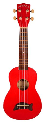 Kala MK-SD CAR Makala Dolphin Soprano Ukulele - Candy Apple Red