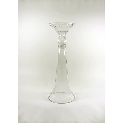 Firefly Clear Reversible Trumpet Vase, 23-1/2-inch