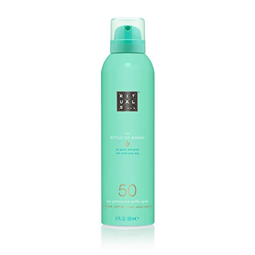 RITUALS The Ritual of Karma Sun Protection Milky Spray SPF 50, Schützende Sonnenlotion LSF 50, 200 ml